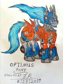 Optimus Pony Create by me  by King-Fire-Storm
