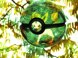 The Pokeball of Leafeon
