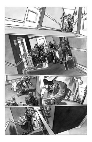 deadball noir comic pg1 chase scene by carbono14
