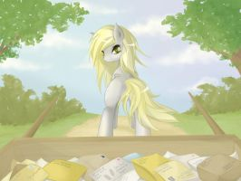 Derpy Delivers Diligently by v-invidia