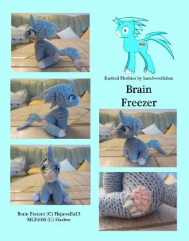 Knitted Plushies - Brain Freezer (OC) by haselwoelfchen