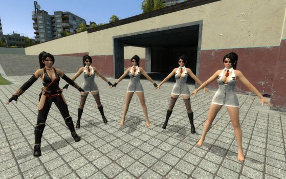 [RELEASE] Momiji ninja suit and cop suit for GMOD by mesa1995