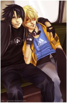 SasuNaru Skaters by miho-nyc