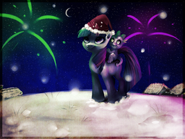 my first xmas at ponyville by Imalou