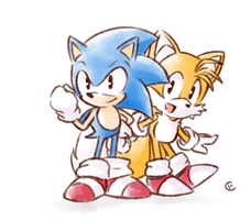 Classic Sonic and Tails by Tsubaki977