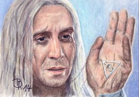 Xenophilius Lovegood by LoonaLucy