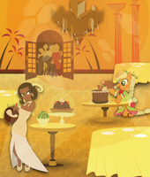 Tiana and Applejack by Autumn-Opaline