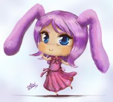 Bunny chibi by evilstrawberrycookie