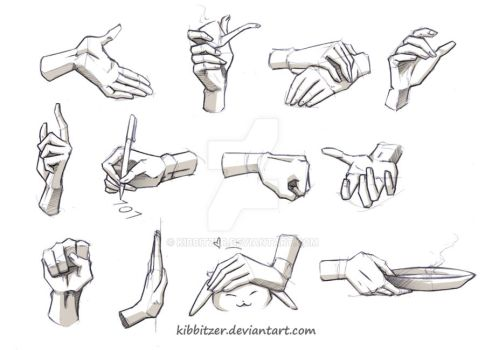 Hands Reference 2 by Kibbitzer