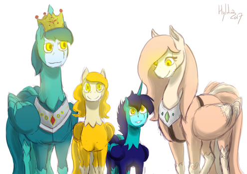 [Dig] One happy family by hylidia