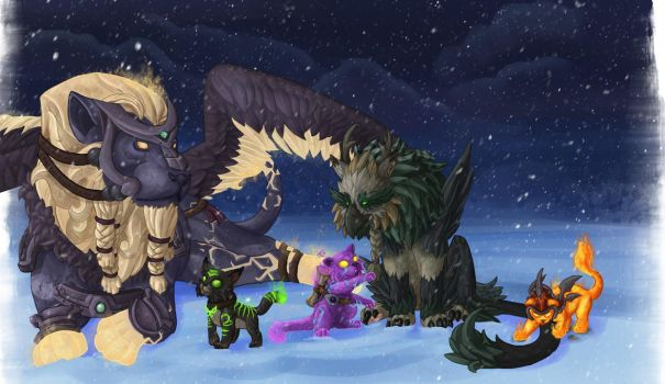 wow Christmas card by GlacialTephrite