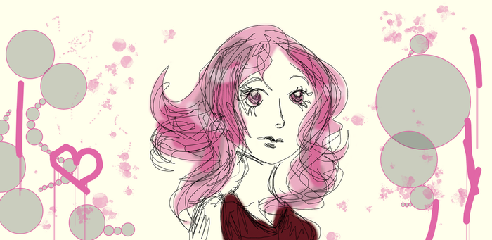 Long time I have not used muro so have a pink girl by Tonxbunny94