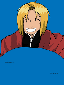 Edward Elric (Colored) by steven1352