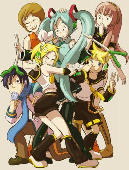 Vocaloid family by nippori