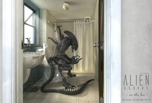 H.R.GIGER's Alien ASOVUS A by funnydoodle