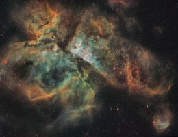 The Carina Nebula in Narrowband Mapped Colour by turbulentvortex