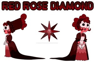 Chibi: Red Rose Diamond by undercoverghost