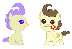Cream and Pound: The Best Baby Pony Couple by 3D4D