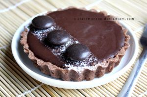 Double Chocolate Cookie Tart by claremanson