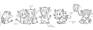 moo moo sketches xD by meago