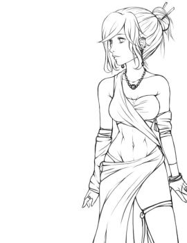 WIP Mage Lineart by Raeri-Chan