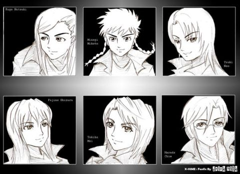 X-Hime: Characters by drink-milk87
