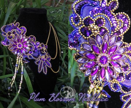 Plum Blossom Necklace by Firefly-Path