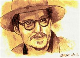 Johnny Depp on paper by gilly15