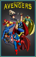 Classic Avengers by Andared