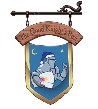 The Good Knight's Rest Sign by Blazbaros