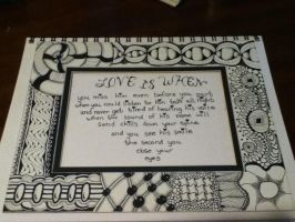 Zentangle Frame and Poem by Furballl