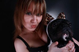With my lovely dog by Des-Alagos