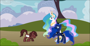 meeting the princesses by neodarkwing