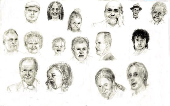 Friends,relatives and other prominent faces by Pumais