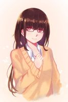 Girl With Glasses by Simple-illust
