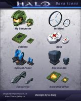 HALO Dock Icons by JJ-Ying