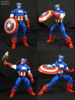 Marvel vs Capcom Captain America custom figure by Jin-Saotome