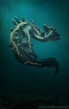 Lagiacrus, The Water Dragon by hellkite527