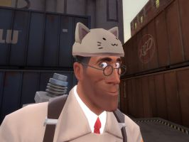 medic kitty hat by qatarz