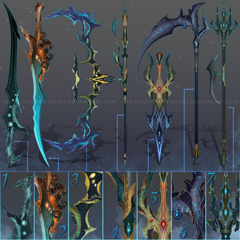(CLOSED) - Weapon Set #007 - Deep Sea Wonder by Timothy-Henri