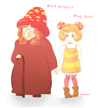 Paras and Parasect gijinka's by marazion