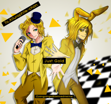 [FNAF] Just Gold / to.Ailurophile-Chan by YangYvY