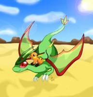 Flygon and Raichu