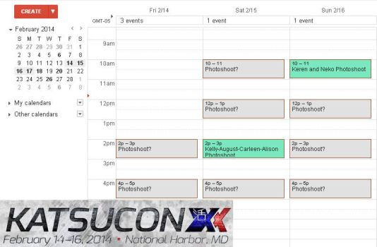 Katsucon 2014 Schedule! by belziir