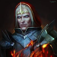 Knight commander Meredith - male by LoranDeSore