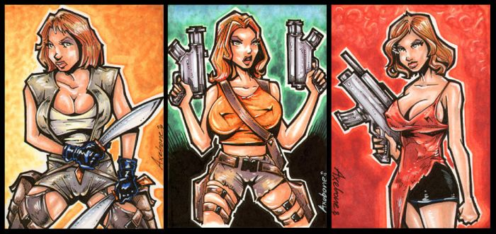 Resident Evil sketch commish by Axebone