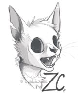 Zombi Cat Sketch Badge by GoldenDruid
