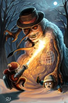 Scorching the Evil Snowman by PhillterUnfilturd