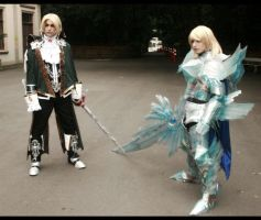 Soul Calibur IV Cosplay - Siegfried and Raphael by brunolaiho