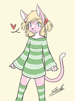 Naty~! The pink catgirl by shouk